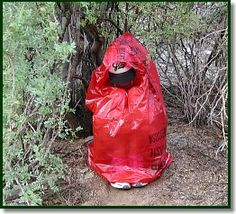 Survive this: Make a Garbage Bag Shelter Part of Your Survival Kit (Great Video)(maybe a black and green one for different situations..)
