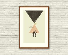 THE EMPIRE ABSTRACT - Star Wars Inspired Art Print Movie Poster Series - Minimalist, Mid-Century Modern Design  This is a beautiful series of three 12 x 18 art prints, printed on thick uncoated French Paper Company Construction Whitewash 100 lb cover stock. Characters we love composed with abstract mid-century forms. A must have for all Star Wars fans and graphic design nerds! Great for any room - from the office to the nursery.  This is a signed limited edition designed by Concepción…