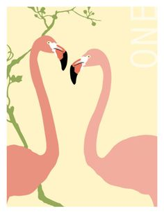 One Love, Flamingos Print by Bessie Pease Gutmann at Art.com