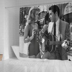 Elvis Presley Shower Curtain Ann Margret Viva Las Vegas Movies