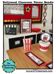 Hollywood Themed Classroom Photos, Printables and Ideas for Decorating