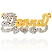 Name Designs Donna | Titanium Name Plate Jewelry - Name Plate Jewelry - Personalized Name ...