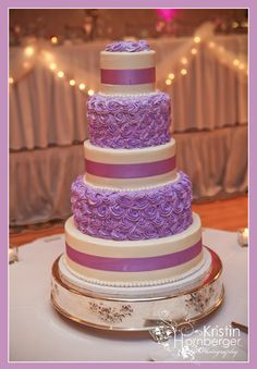 Alyssa + Ted: I loved Alyssa and Ted's Wedding Cake by Amy Barnes, pastry chef at Ritz Charles.  Gorgeous cake and I love the purple! #Indy #Wedding #Cake #Purple