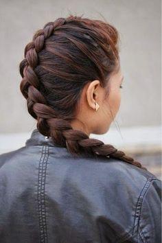 Dutch braid.
