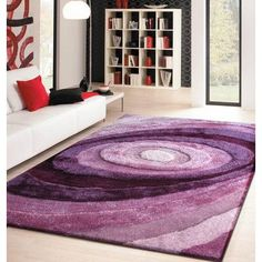 "Rug Factory Plus Living Shag Shades of Lavender Rug Rug Size: 7'6"" x 10'2"""