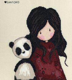 Panda Girl Gorjuss cross stitch kit