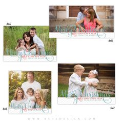 Our Photo Card sets include four single-sided photo card designs. These photographic prints are very affordable and can be printed at any print lab. Simply customize our templates with your images, edit text then add envelopes to give your customers a more affordable card option.
