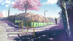5 Centimeters Per Second by Makoto Shinkai. The art is amazing but I have to say that the actual movie's not that good…