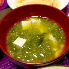 磯の香りが美味しい〜♡ - 55件のもぐもぐ - 旬だね。アオサと豆腐の味噌汁 by kirarihaha