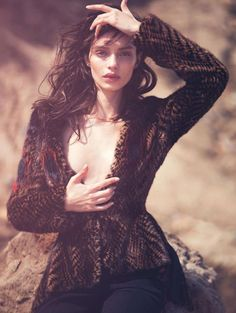 wild west: luma grothe by david bellemere for marie claire italia november 2015