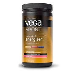 Vega Sport Pre-Workout Energizer is a pre-workout drink mix sporting a unique blend of 13 synergistic plant-based performance-improving ingredients, like green tea, yerba mate, coconut oil and rhodiola.Vega Sport is the first all-natural, plant-ba Pre Workout Energy Drink, Workout Drinks, Energy Drinks, Pre Workout Nutrition, Pre Workout Supplement, Sports Nutrition, Fitness Nutrition, Yerba Mate, Jars