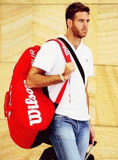 "#DelPo #DelPotro #tennis "" Juan Martin Del Potro   Sydney Arrival, Apia International Sydney 2015 Previews (x) """
