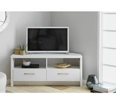 Buy Collection Venice Large 2 Drawer Corner TV Unit - White at Argos.co.uk - Your Online Shop for Entertainment cabinets and units, Coffee tables, sideboards and display units, Home and garden.