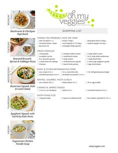 1000+ ideas about Vegetarian Shopping List on Pinterest | Whole 30 ...