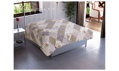 ESF Home Textile: Chiara Rose Microfiber Reversible 1-Piece Quilted Throw Blanket