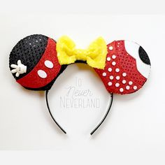 A personal favorite from my Etsy shop https://www.etsy.com/listing/485976632/mickey-and-minnie-ears-mickey-mouse-ears