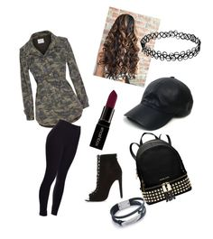 """""""army look"""" by shana-lodhi-pashtun on Polyvore featuring Velvet by Graham & Spencer, River Island, MICHAEL Michael Kors, Vianel and Smashbox"""