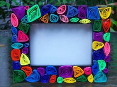 Cornici per bambini fai da te - Cornice colorata