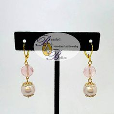 Check out this item in my Etsy shop https://www.etsy.com/listing/516815683/blush-pink-pearl-vintage-look-dangle