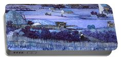 David Bridburg Portable Battery Charger featuring the digital art Inv Blend 18 Van Gogh by David Bridburg