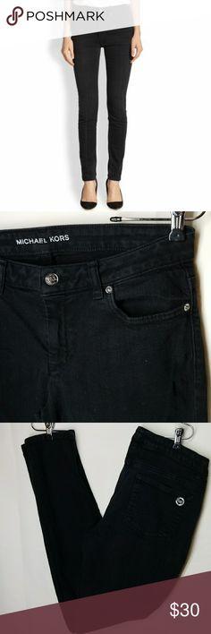"""Michael Kors Jeans Skinny  Black wash  5pocket MK emblem on right back pocket.  98% Cotton 2% Spandex Inseam 31 1/2""""  Outerseam 38"""" Michael Kors Jeans Skinny"""