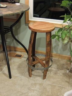cork to barrel the making of a barrel stave bar stool use a