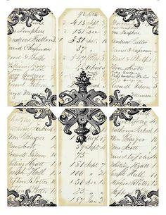 Free Printables - Vintage Gift Tags