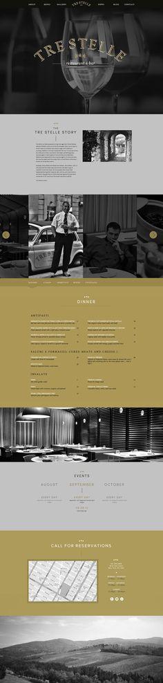 Tre Stelle Restaurant & Bar (Logo & Collateral, Website Design & Development) - Global Point NYC Portfolio for Creative and Web Design Services