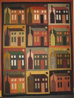Primitive Folk Art Quilt Pattern  THE BIG HOUSE by PrimFolkArtShop