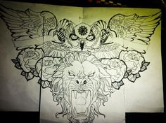Remade design for chest tattoo :) by jonathanmartel08