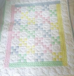 11 Nine Patch Baby Quilt Pattern Gallery Nine Patch Baby Quilt Pattern - This 11 Nine Patch Baby Quilt Pattern Gallery wallpapers was upload on February, 21 2020 by admin. Here latest Nine Pa. Hand Quilting Patterns, Jelly Roll Quilt Patterns, Baby Quilt Patterns, Quilting Designs, Tatting Patterns, Vintage Quilts Patterns, Quilting Ideas, Quilt Baby, Baby Girl Quilts