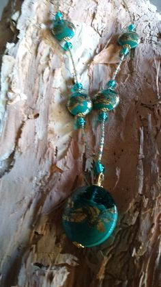 Teal Venetian Glass Beads with Gold lead. Lead Glass, Australian Art, Venetian Glass, Artist Art, Turquoise Necklace, Glass Beads, Teal, Jewels, Jewellery