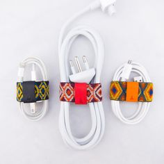Cable Band, a versatile cable organizer (Django Set) - set of 3 - fits a variety of small to medium cords - cable tie / manager