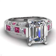 I'm auctioning 'SZ 7,8,9 Dark Pink & Clear CZ Wedding Engagement Ring' on #tophatter
