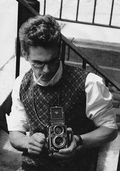 James Franco with a Rolleiflex.