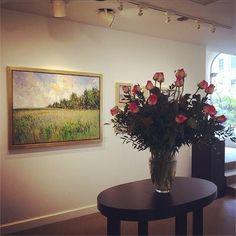 "Visit the gallery today to see Samir Sammoun's ""Doigts de la Vierge, Monteregie"". #bosarts #boston #art #newburyst #impressionism"