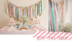 DIY backdrop - a good way to get fabrics and patterns involved
