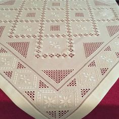 Hardanger Embroidery, Hand Embroidery, Embroidery Designs, Bargello, Needlework, Quilts, Knitting, Projects, Handmade