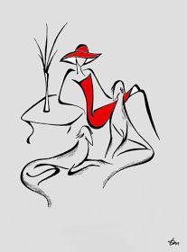 Billedresultat for Tatyana Markovtsev Line Drawing, Painting & Drawing, Illustration Mode, Silhouette Art, Mixed Media Canvas, Minimalist Art, Drawing People, Diy Art, Silhouettes