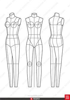 May 2020 - Fashion Flats Body Templates Female Special Edition Fashion Sketch Template, Fashion Figure Templates, Fashion Design Template, Design Templates, Flat Sketches, Dress Sketches, Fashion Design Portfolio, Fashion Design Sketches, Fashion Figures