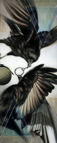 LOVE this Crow Painting...so Dynamic!! by josie morway
