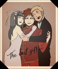 Naruto, Gaara and Hinata