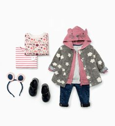 Cool Stylish Baby Girl Clothes Shop by Look - Baby Girls - Kids Baby Girl Fashion, Fashion Kids, Toddler Fashion, Stylish Baby Girls, Stylish Kids, Cute Outfits For Kids, Toddler Outfits, Ropa American Girl, Look Zara