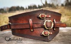 Verstellbare Leder Gürtel fantasy von ArteideStudio auf Etsy