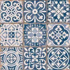 Vietnamese French art deco floor tiles.