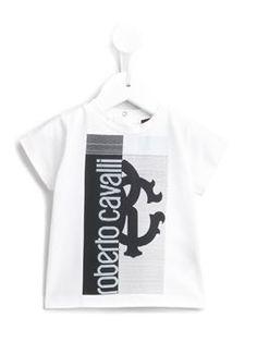 striped logo print T-shirt