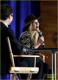 Jennifer Morrison dons a cute hat while speaking at the Celebrity Q&A during the 2015 Fan Expo at the Vancouver Convention Centre on Friday (April 3) in Vancouver, Canada.