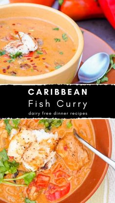 Do you wanna make caribbean fish curry?, you can visit the site. This Caribbean Fish Curry recipe is a one-pot meal ready in 30 minutes that is a creamy blend of coconut milk, tomatoes, curry spices, and tender red snapper. Seafood Curry Recipe, Curry Recipes, Seafood Recipes, Cooking Recipes, Recipes Dinner, Veggie Recipes, Dinner Ideas, Fish Recipes With Coconut Milk, Coconut Fish