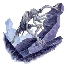 Vampiric illithids were undead mind flayers. Vampiric illithids were feral and were barely intelligent. Character Inspiration, Character Art, Character Design, Character Ideas, Character Concept, Fantasy Images, Fantasy Rpg, Dungeons And Dragons Heroes, Mind Flayer