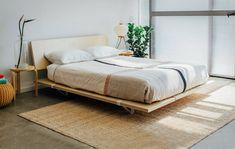 Muji Bed, Minimal Bed Frame, Floyd Bed, Japanese Style Bedroom, Japanese Bed, Minimalist Bed, Bed Frame Design, Mid Century Modern Bedroom, Black Bedroom Furniture